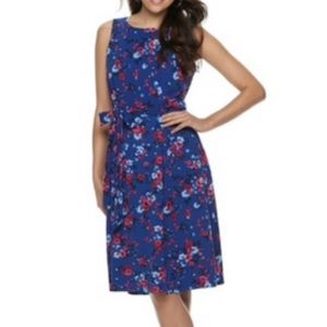 Elle Floral Fit & Flare Dress